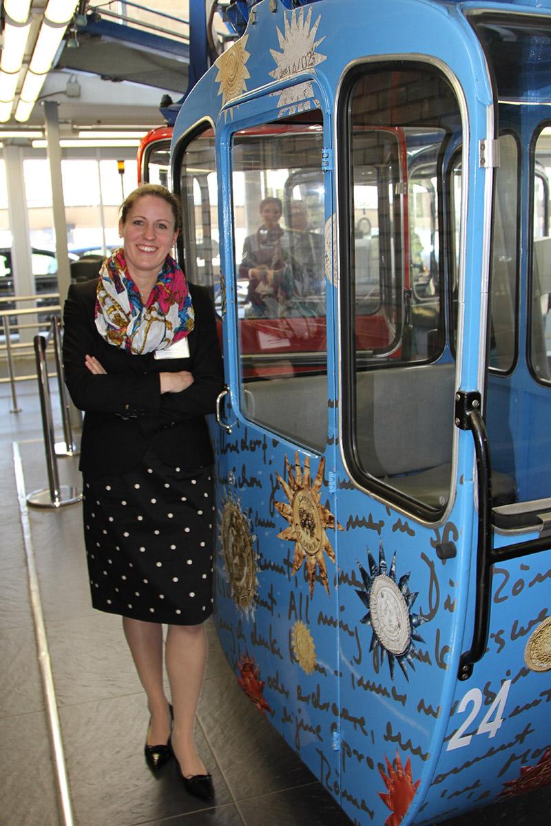 Sonja Lorsy ist kaufmännische Geschäftsführerin der Kölner Seilbahn.