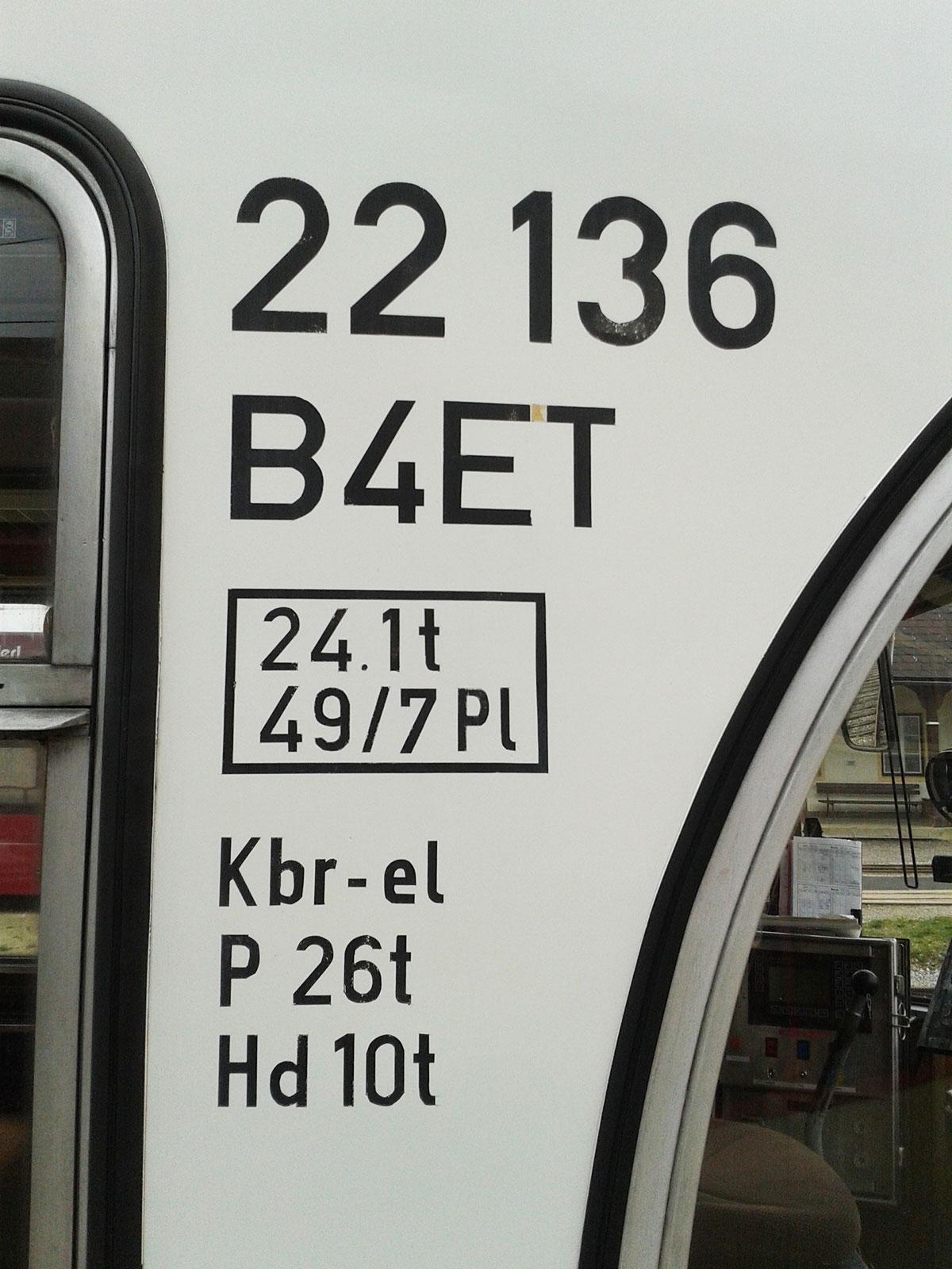 Die Nummer des Zuges auf der Strecke Lambach - Vorchdorf. (Foto: Schuller)
