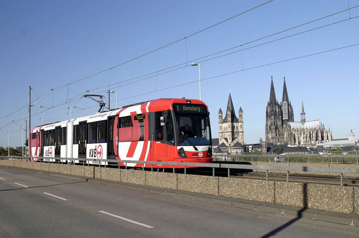 Die Stadtbahnen sind die Hauptschlagadern des Kölner ÖPNV.