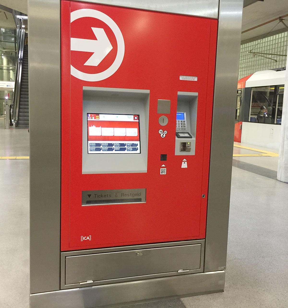 neuer Ticketautomat der KVB am Heumarkt