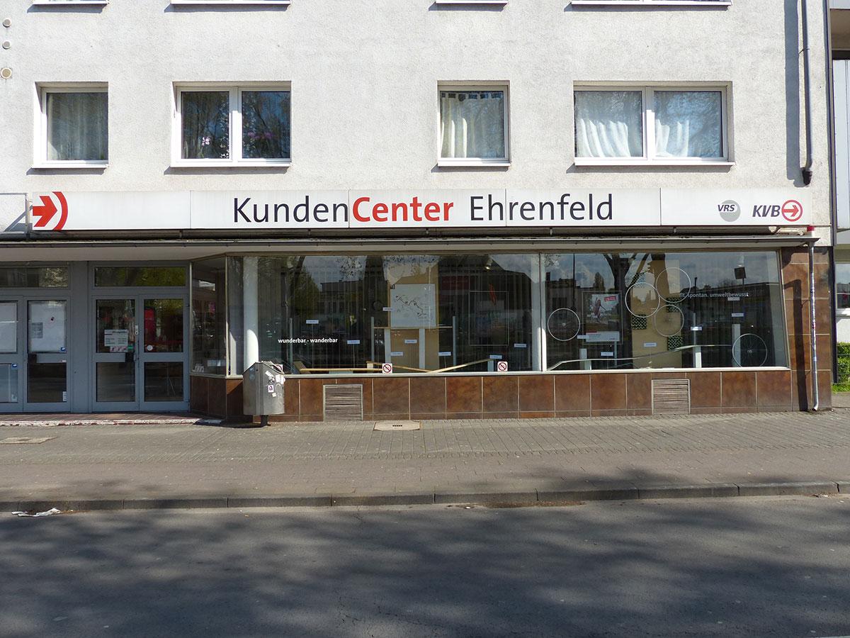 Eins von fünf KVB-KundenCentern befindet sich in Ehrenfeld.