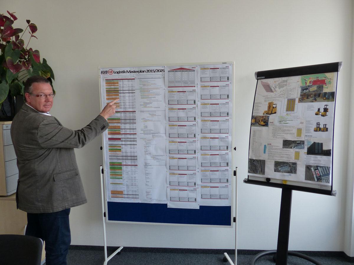 Günter Dabek beobachtet stets den genauen Verlauf des Logistik-Masterplans.