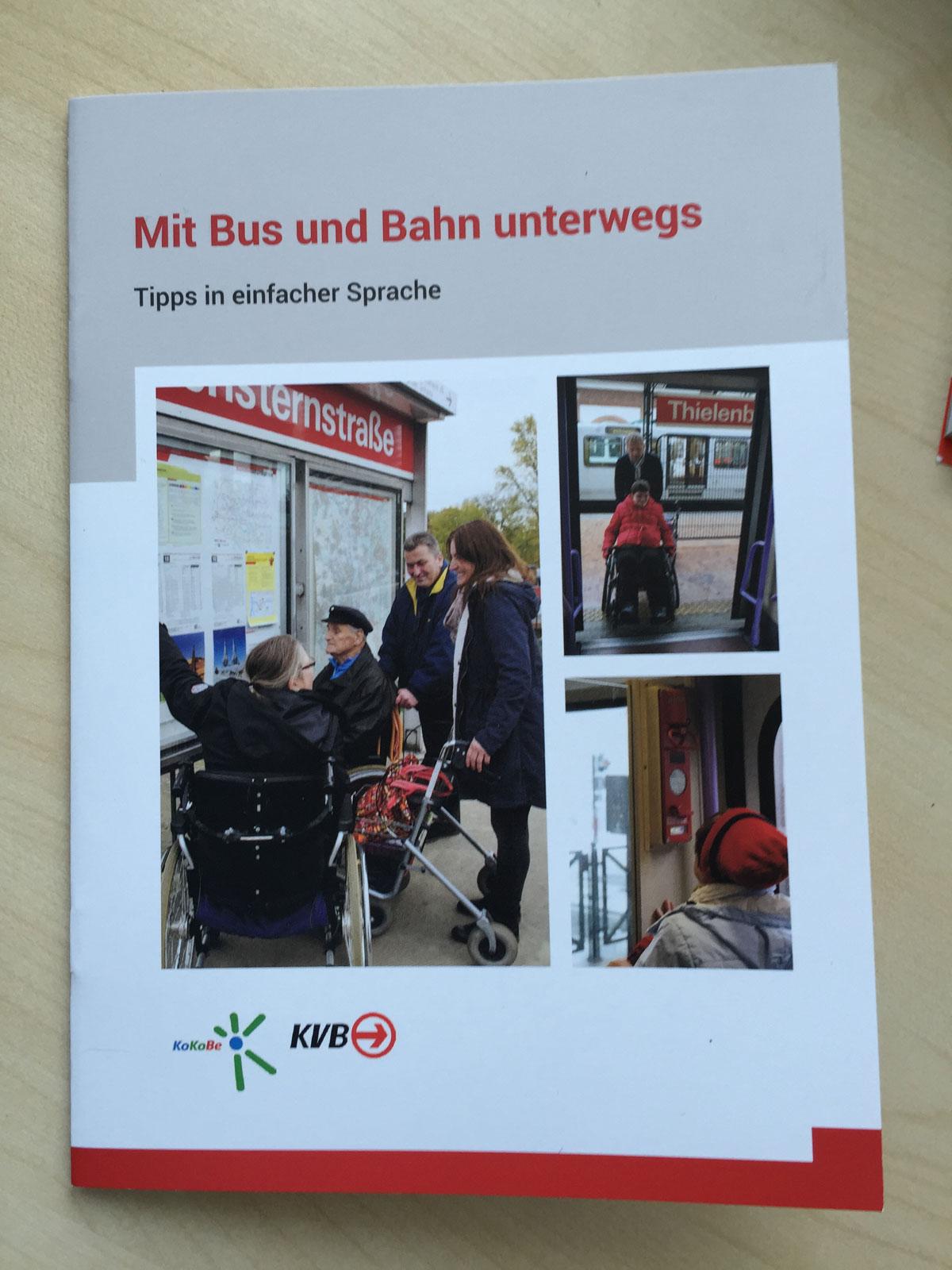 Die neue Broschüre der KVB ist kostenlos und soll weite Verbreitung finden.