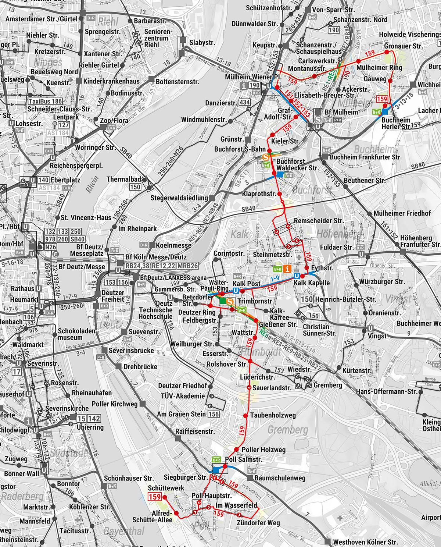 Verlauf der Linie 159