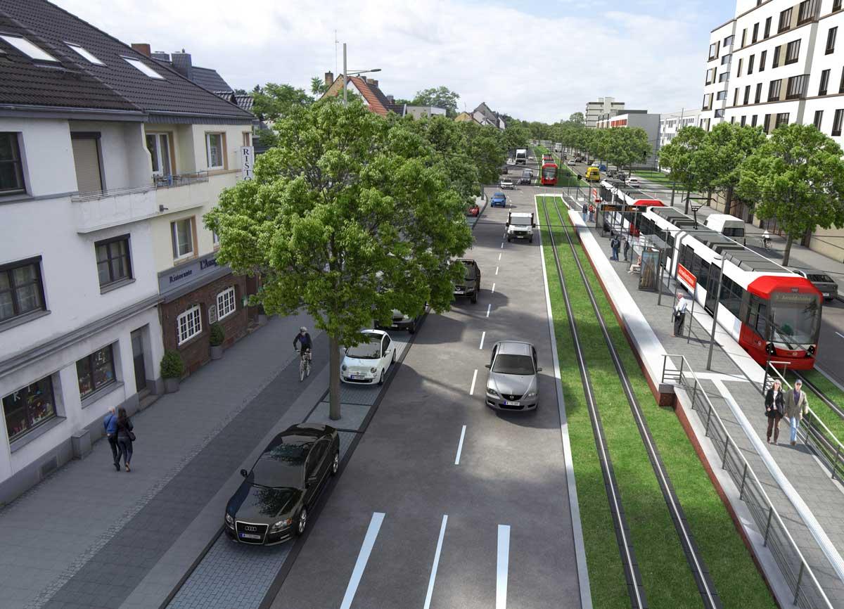 Visualisierung des Bereichs Ahrweilerstraße