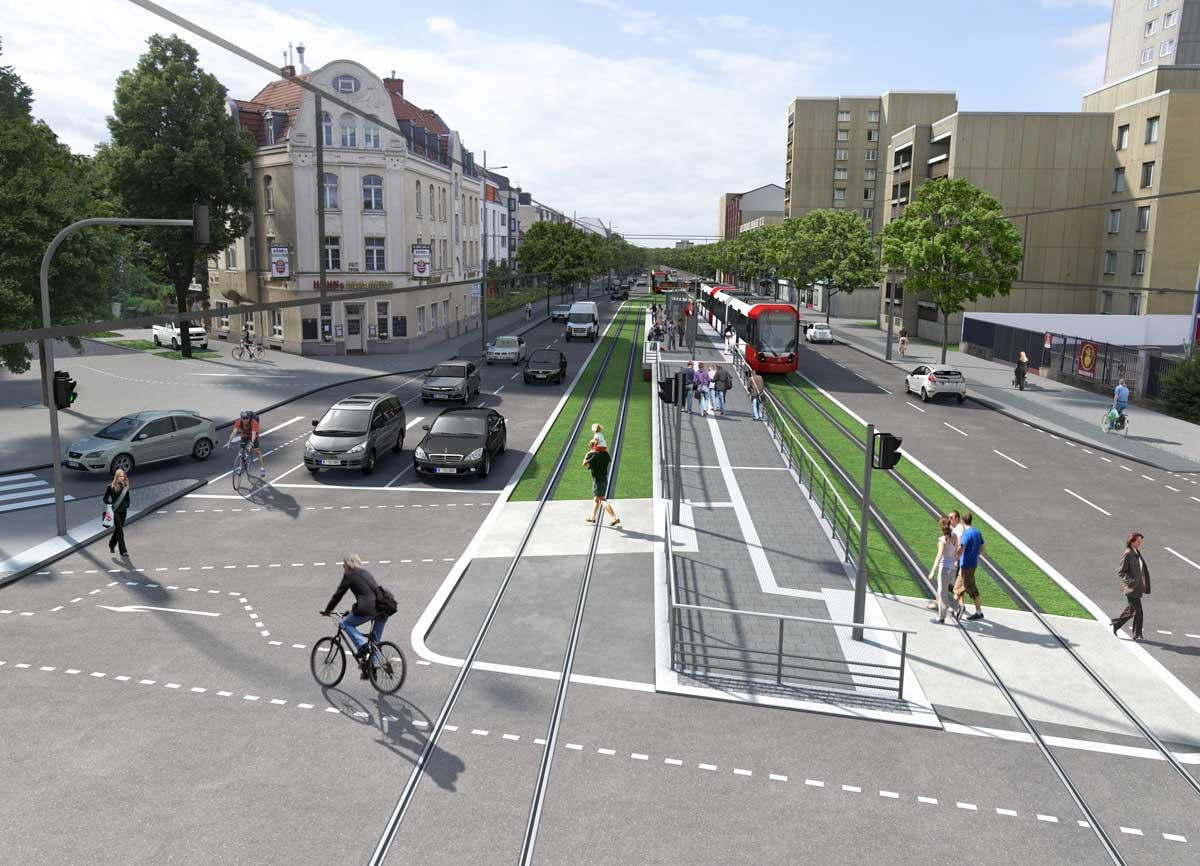 Visualisierung des Bereichs Bonner Straße / Gürtel