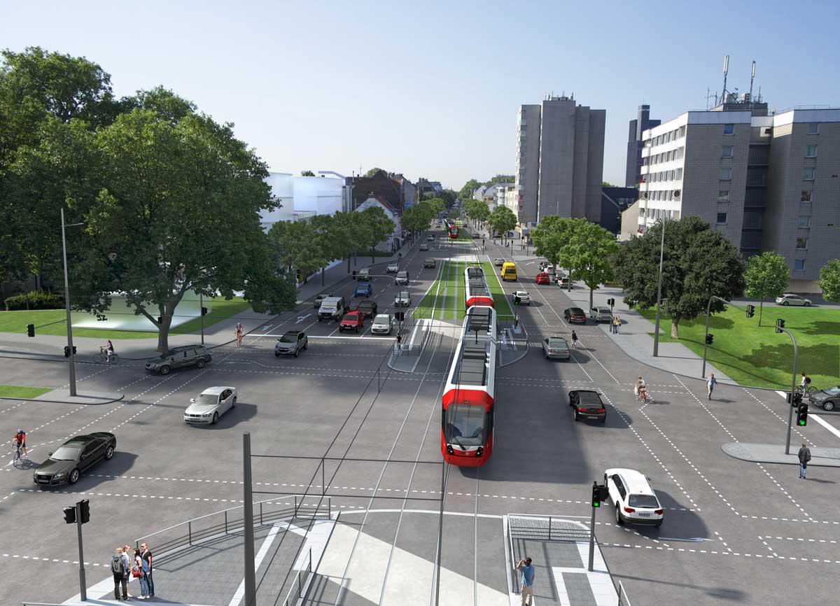Visualisierung des Bereichs Marktstraße