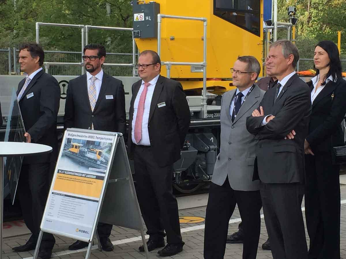 Große Aufmerksamkeit bekam die KVB-Bahnbauflotte in Berlin auf der Messe InnoTrans.