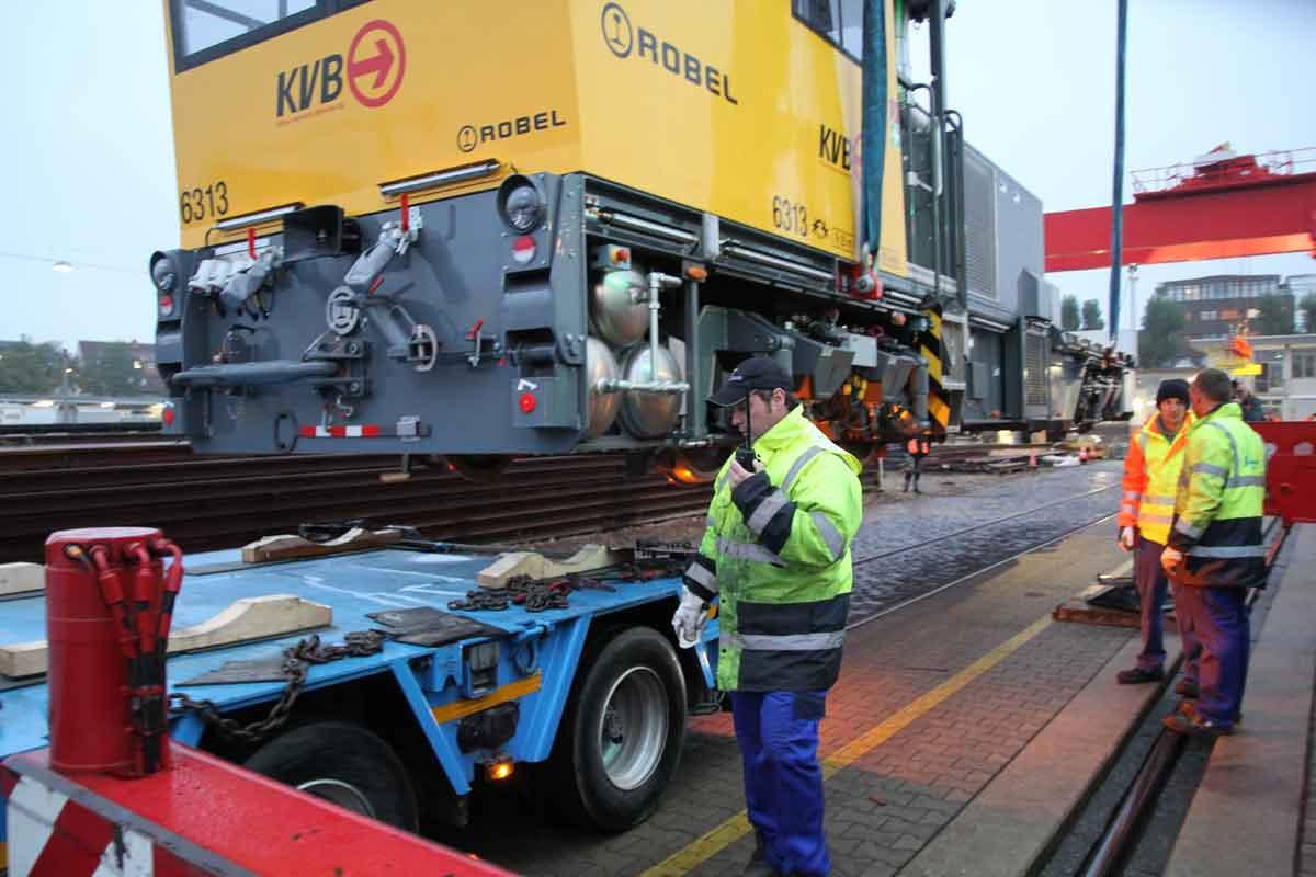 Mit der Auslieferung der neuen Fahrzeuge begann ein neues Kapitel im Bahnbau der KVB.
