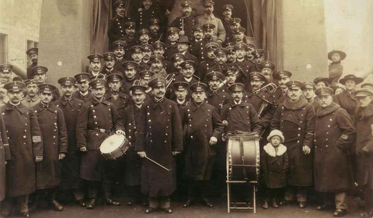 Das Orchester in den Gründerjahren.