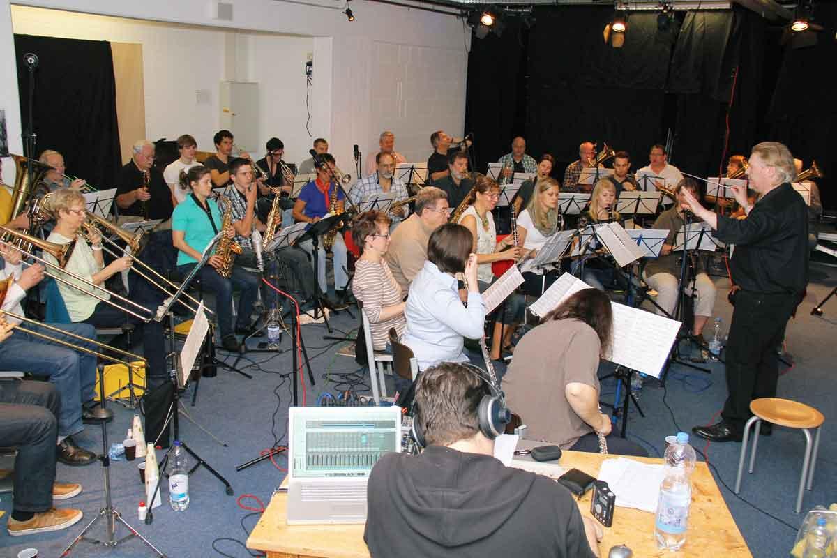 Einmal pro Woche probt Patrick Dreier mit dem Orchester.