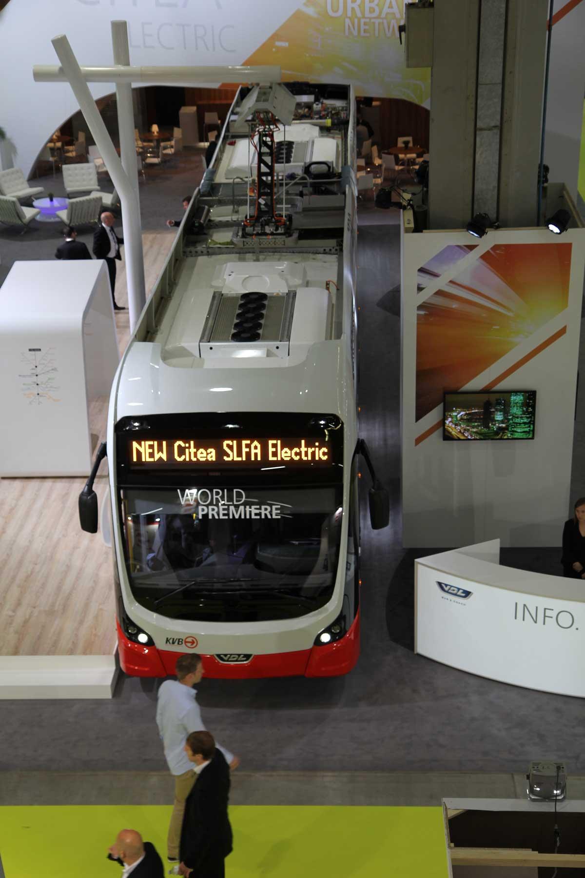 Auf dem UITP-Weltkongress in Mailand, Juni 2015, wurde der E-Bus der KVB erstmals vorgestellt.