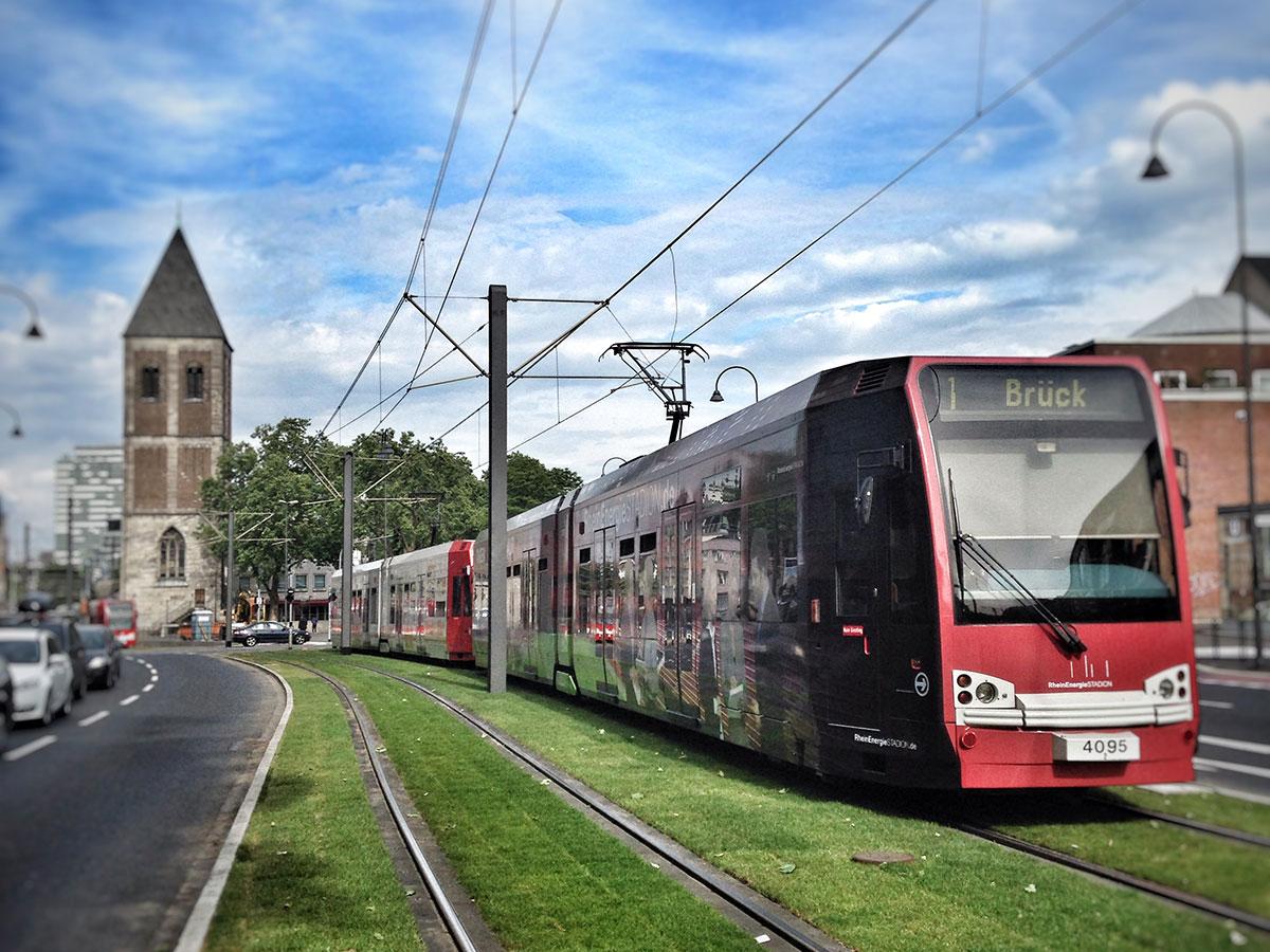 Die Trassen in der Innenstadt sind zur Rush Hour belegt, so z.B. zwischen Heumarkt und Neumarkt.
