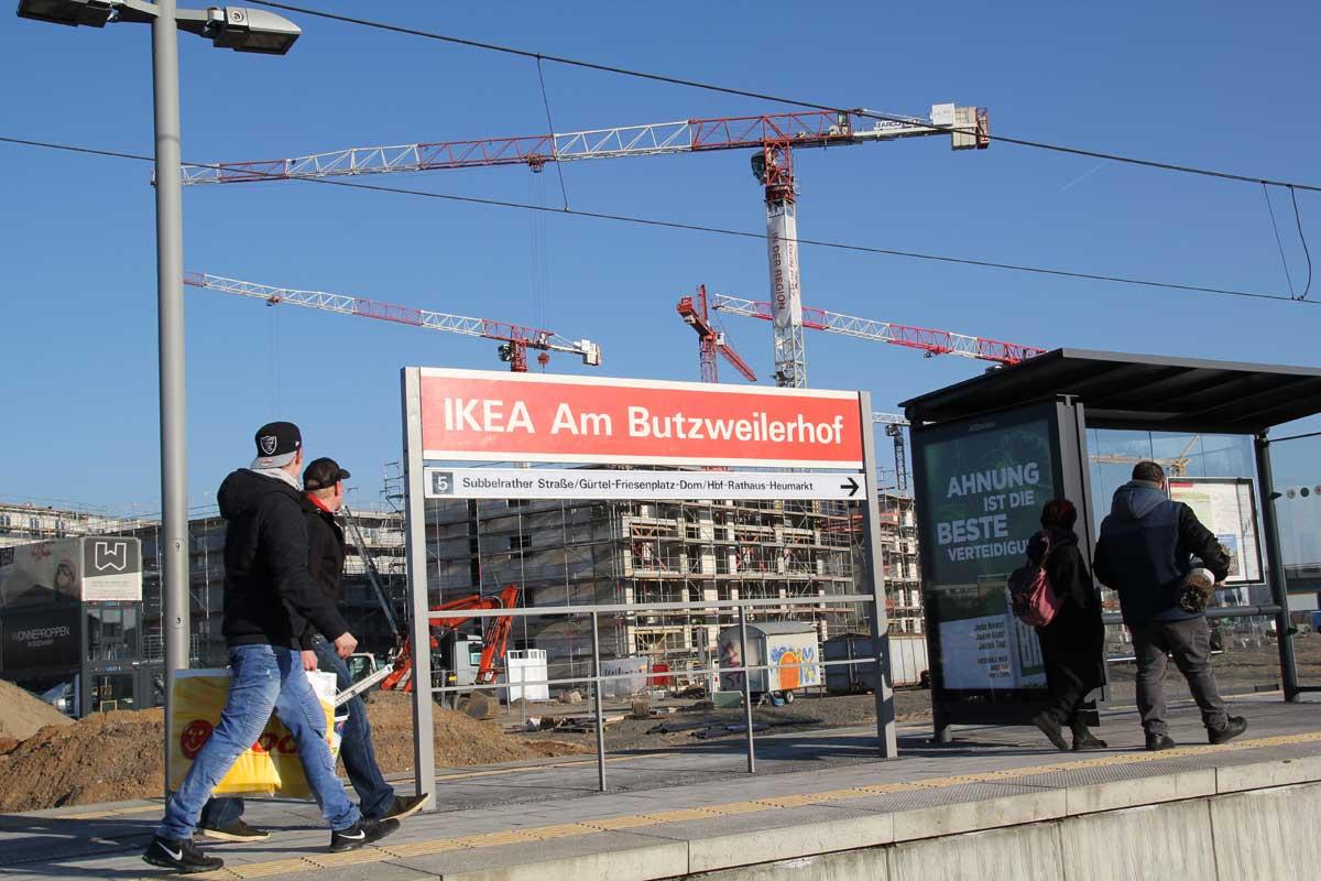 Die Stadtbahn ist da - Investoren bauen entlang der Linie 5.