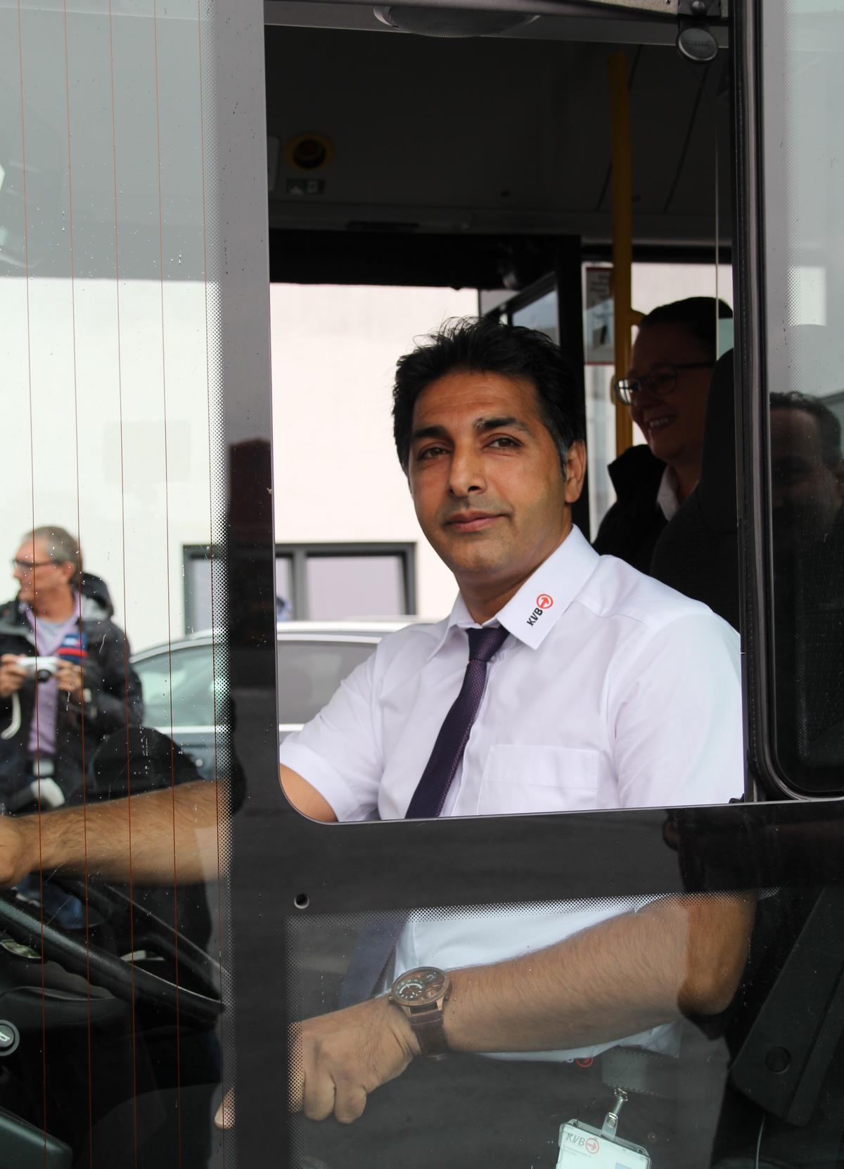 Ali Asghar M. hat in seiner Heimat Iran schon Lkw gefahren