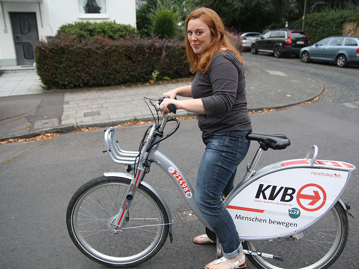 Manchmal kann ich mir direkt vor meiner Haustür ein KVB-Rad schnappen.