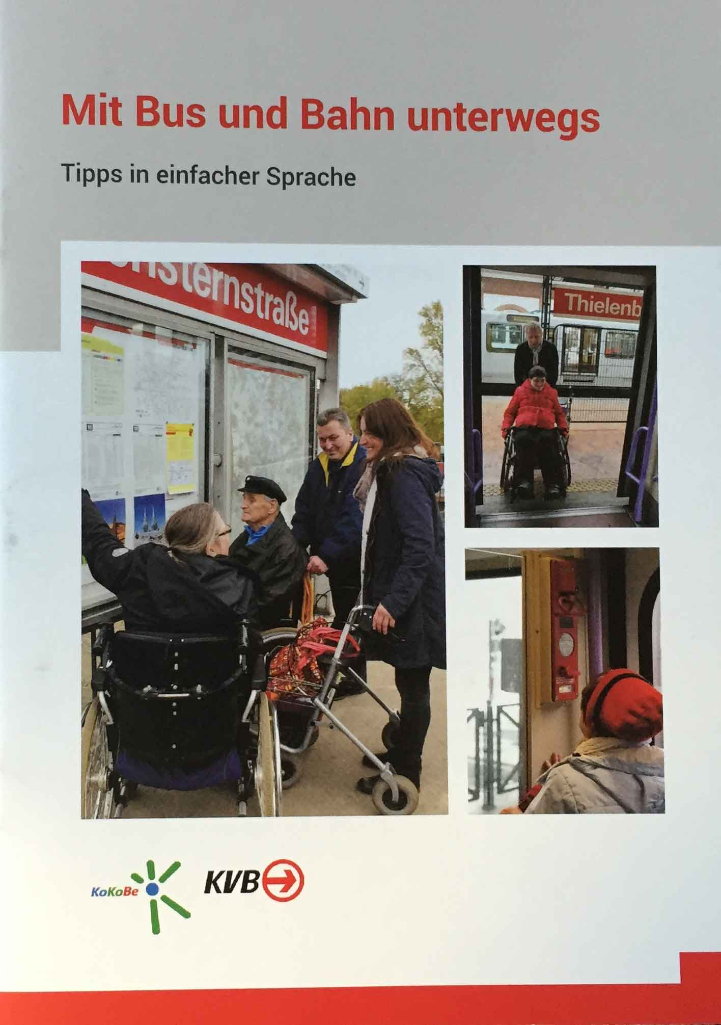 Eine Broschüre mit zahlreichen Tipps in einfacher Sprache kann allen Fahrgästen dienen.