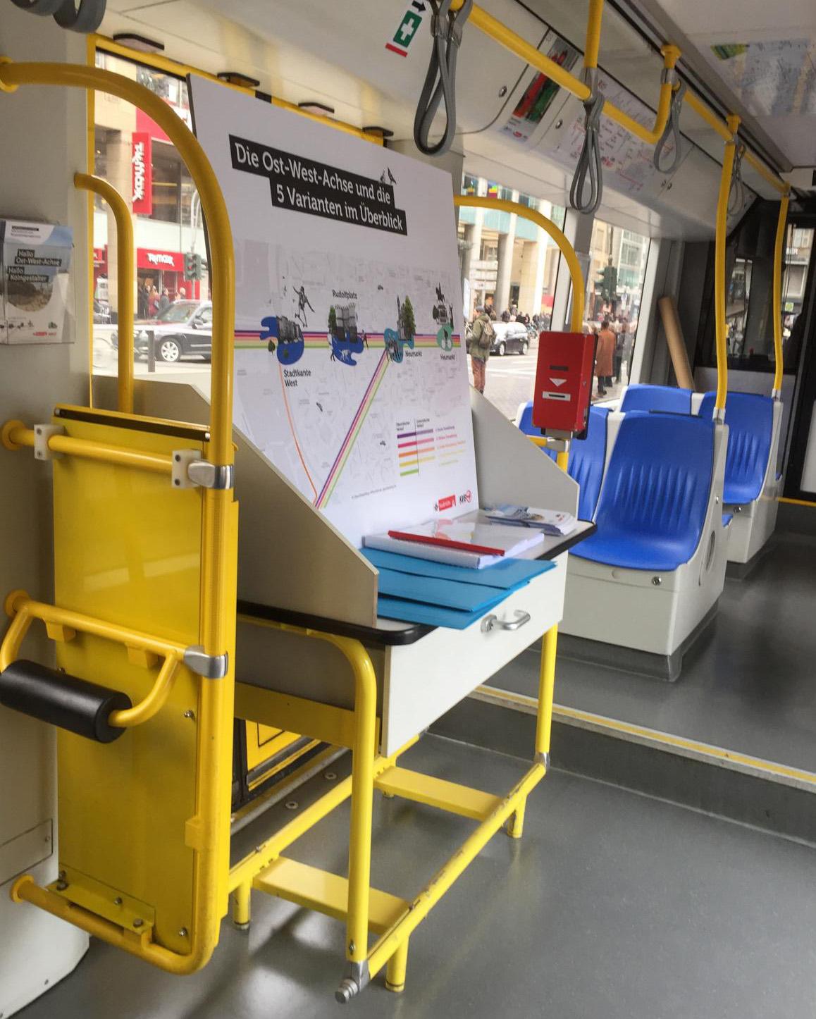 In der Stadtbahn am Neumarkt könnten sich die Bürger schon vor der Kick-off-Veranstaltung informieren.