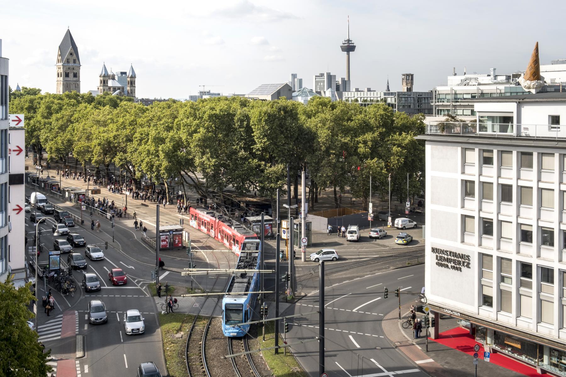 Diese schwierige und stark belastete Kreuzung am Neumarkt gäbe es nach einer Umgestaltung so nicht mehr, wenn ein Tunnel bis zum Rudolfplatz gebaut würde.