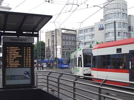 Bahnen wie an der Perlenkette: Taktverdichtungen sind hier im Innenstadtbereich nicht mehr möglich.