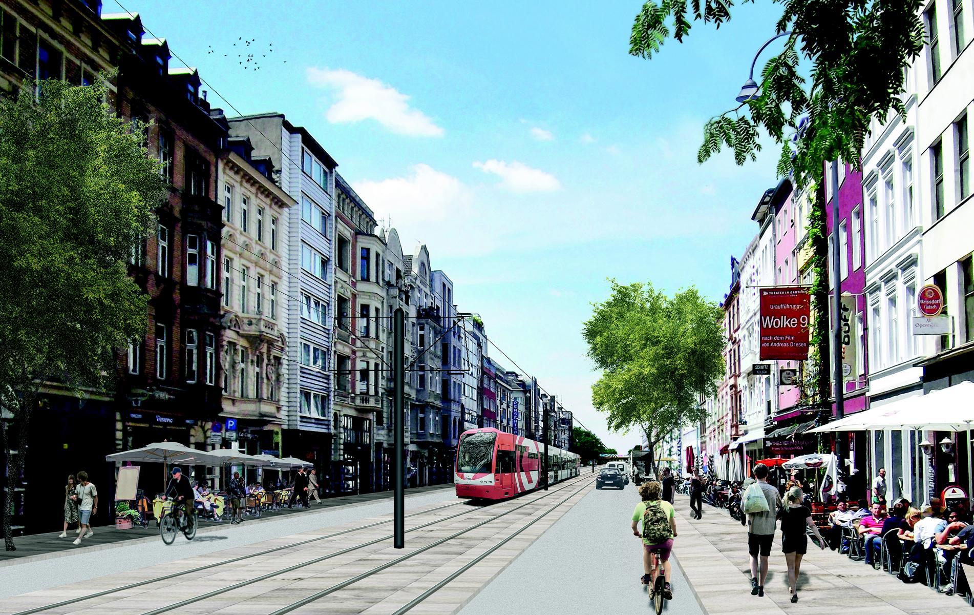 Visualisierung der Aachener Straße