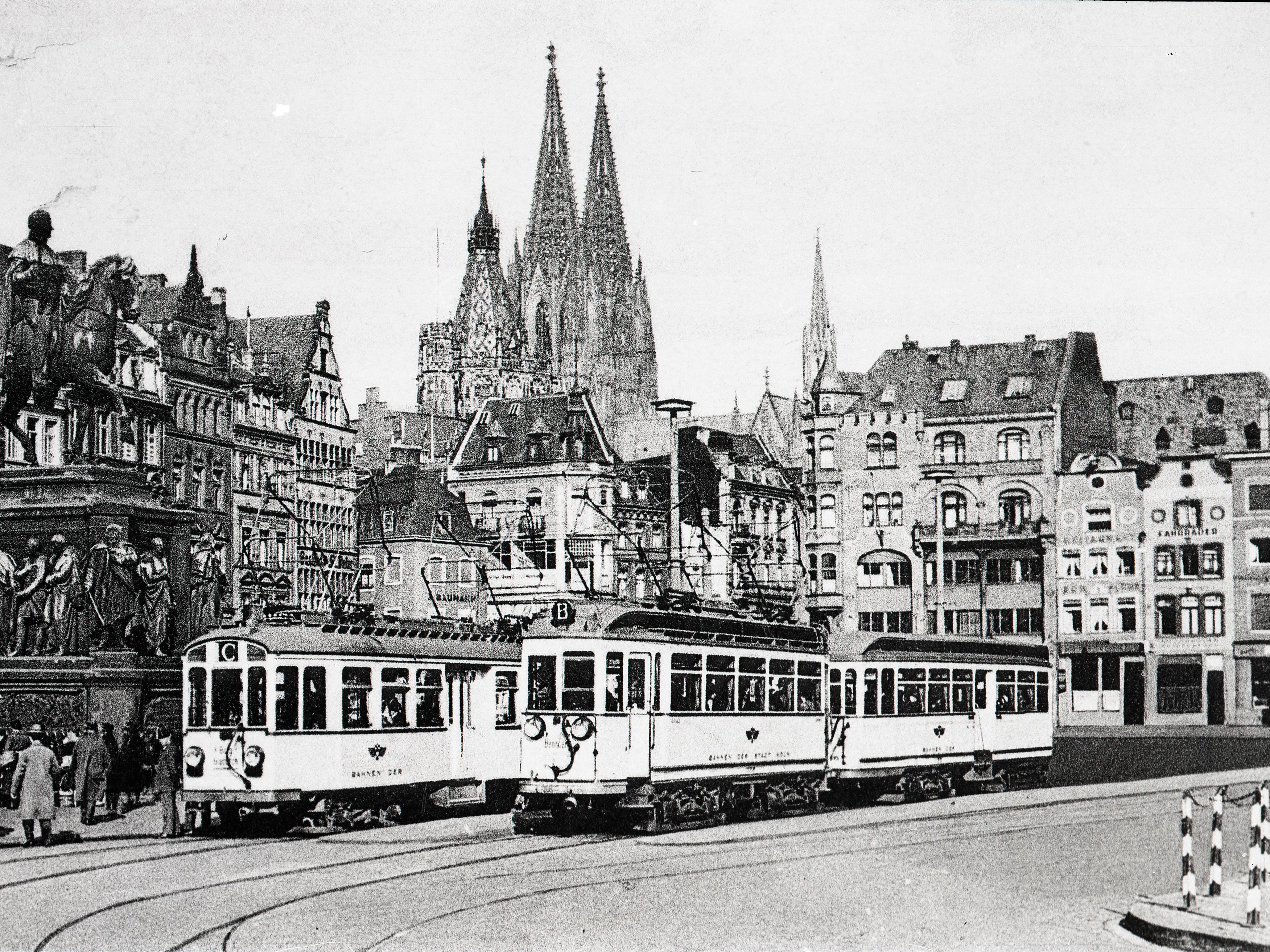 Vorortbahnen am Heumarkt Anfang des 20. Jhd.