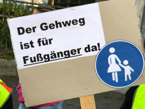 Gehweg-Demonstration