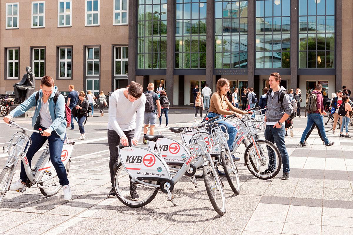 KVB-Rad an der Universität zu Köln