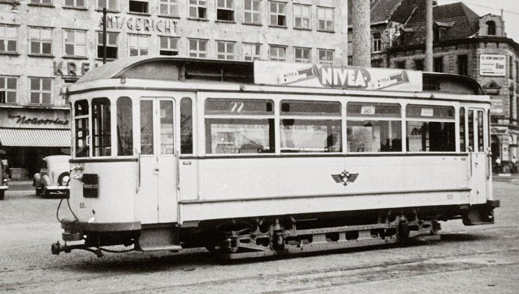 Straßenbahnwerbung in den 1940er Jahren