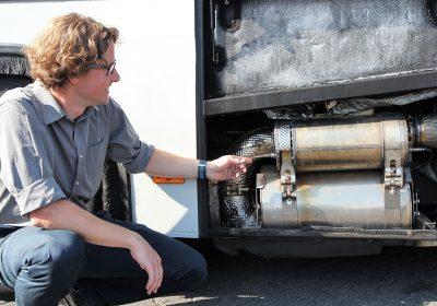 Abgas-Filteranlage mit Herrn