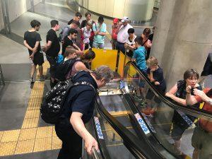 Rolltreppe Zwischenebene am Heumarkt