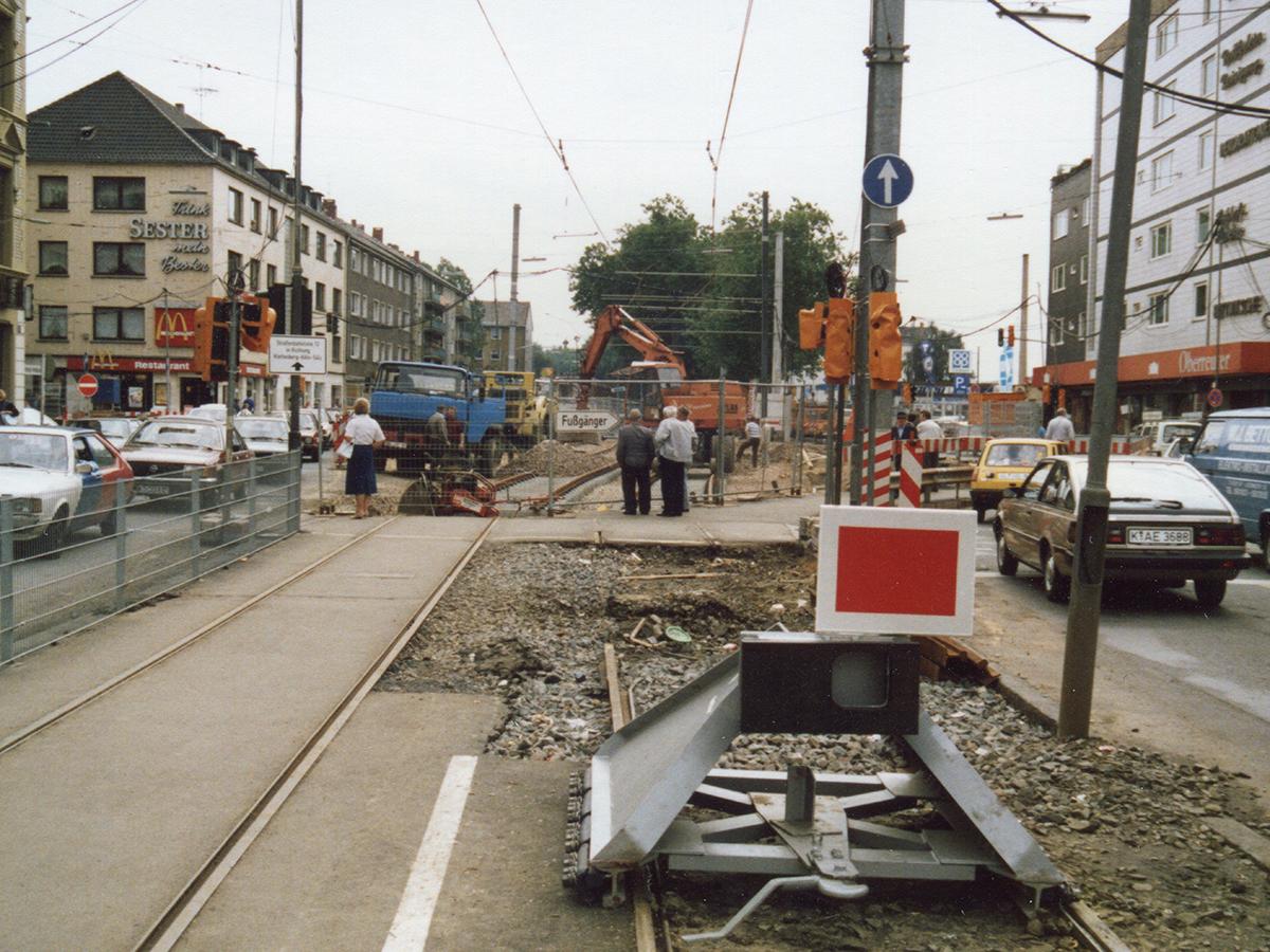 U-Bahn-Bau Venloer Str. /Gürtel 1987